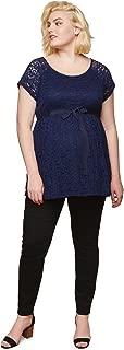 Women's Maternity Indigo Blue 5 Pocket Super Soft Secret...