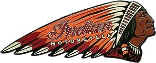 Indian Motorcycle Embossed Die Cut Tin Sign