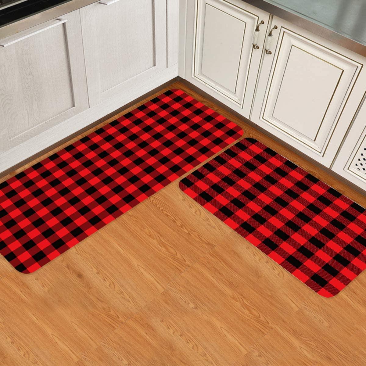 Prime Leader 2 Piece Non-Slip Kitchen Rug Doormat Runner Mat Set Cheap OFFicial shop