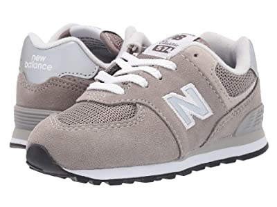 New Balance Kids K574v1I (Infant/Toddler) (Grey/Grey) Boys Shoes