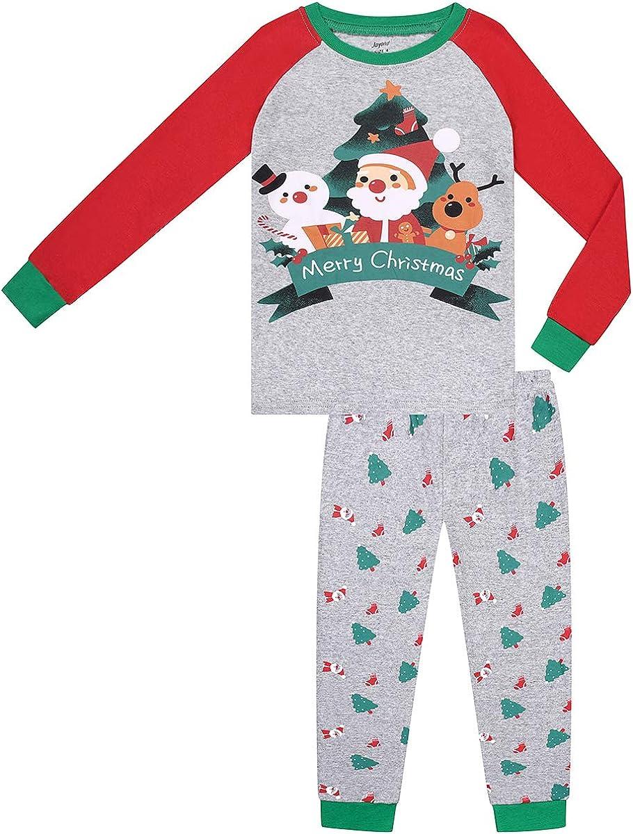 Christmas Pajamas Boys Girls Merry Christmas Carton pjs PJs Gift Set (Christmas Carton,6)