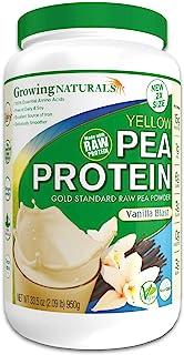 Growing Naturals   Plant Based Protein, Gold Standard Raw Pea Protein Powder   Vanilla Blast   Non-GMO, Vegan, Gluten-Free...