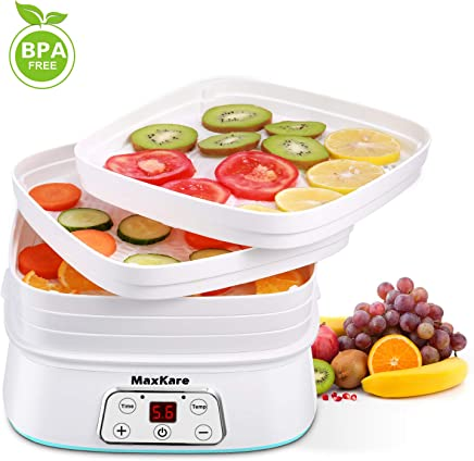 Maxkare Food Dehydrator Machine, Digital Multi-Tier Food Preservation Device with Temperature and...