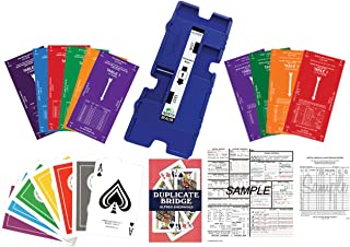 Duplicate Bridge Kit for up to 16 Players - 32 Duplicate Boards, 36 Decks of Bridge Sized Playing Cards, Traveling Score Sheets, Movement Cards, Convention Cards, and Instructional Textbook