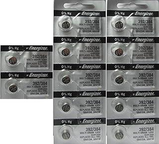 12 Energizer 392/384 Silver Oxide 0% Mercury Batteries