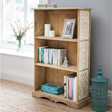 The Attic Jodhpur Bookshelf (Lacquered, Natural and White)