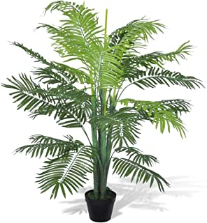 vidaXL Palmier Artificiel Plastique Pot Arbre Plante Bureau Maison Jardin