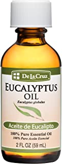 De La Cruz Pure Eucalyptus Essential Oil, Steam-Distilled, bottled in USA 2 FL OZ