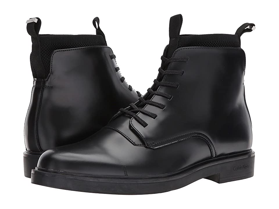 Calvin Klein Devlin (Black Box Leather/Knit) Men