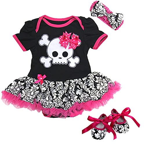 Skull Head Pocket Design Gothic Boys and Girls Baby Grow Vest Bodysuit