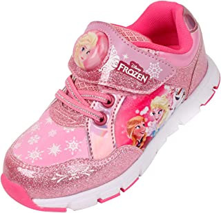 Joah Store Character Light Up Sneakers Shoes for Girls Elsa Sofia Hello Kitty (Parallel Import/Generic Product)