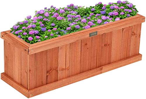 """new arrival Giantex Raised Garden Bed Flower or Vegetable Planter Window Mounted Plant online Box sale for Garden, Yard Wood Box for Planting (28"""" LX9 WX10 H) outlet online sale"""
