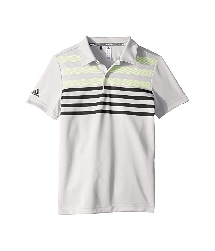 adidas Golf Kids  Chest Stripe Fashion Polo (Little Kids/Big Kids) (Grey Two) Boys Short Sleeve Knit
