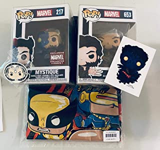 Funko - Caja de suscripción de Marvel Collector Corps, tema de la película X-Men 20th Annivesary, julio 2020, camiseta grande
