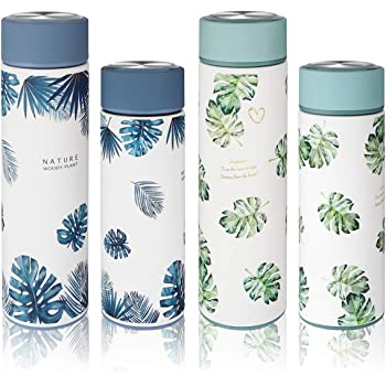 Travel-Friendly Tea Coffee Vacuum Thermoses Cup Car Portable Thermos Vacuum Insulated Water Bottle Stainless-Steel Water Bottle Tea and Fruit Infuser Leak-Proof Keeps Content Hot or Cold