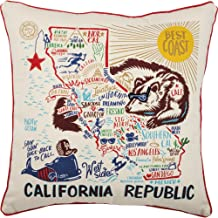 Primitives by Kathy Home State California Republic Decorative Throw Pillow, 20-Inch Square