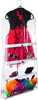 """NEW Clear Costume and Clothing Garment Bag (Transparent, 22"""" x 40"""" x 4"""" Gusset)"""