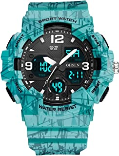 Beautiful Watches, Dual-Display Sports Multi-Function Men's Silicone Electronic Watch
