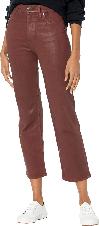 HUDSON Jeans Remi High-Rise Crop Bootcut in High Shine Brick