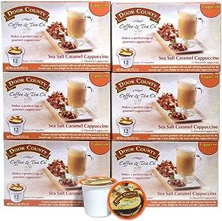 Door County Coffee, Single Serve Cups for Keurig Brewers, Sea Salt Caramel Cappuccino, 72 Count