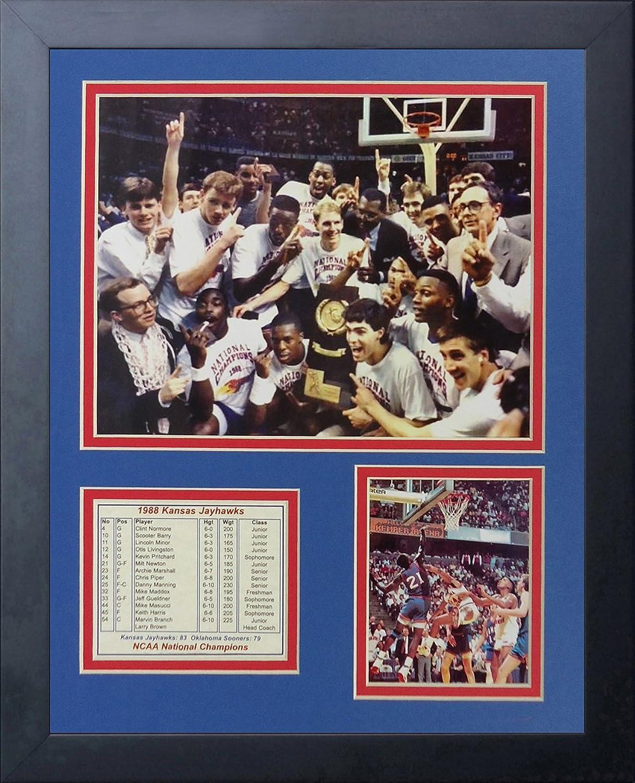 Legends Never Die 1988 Kansas Jayhawks Collage Photo Frame, 11  x 14