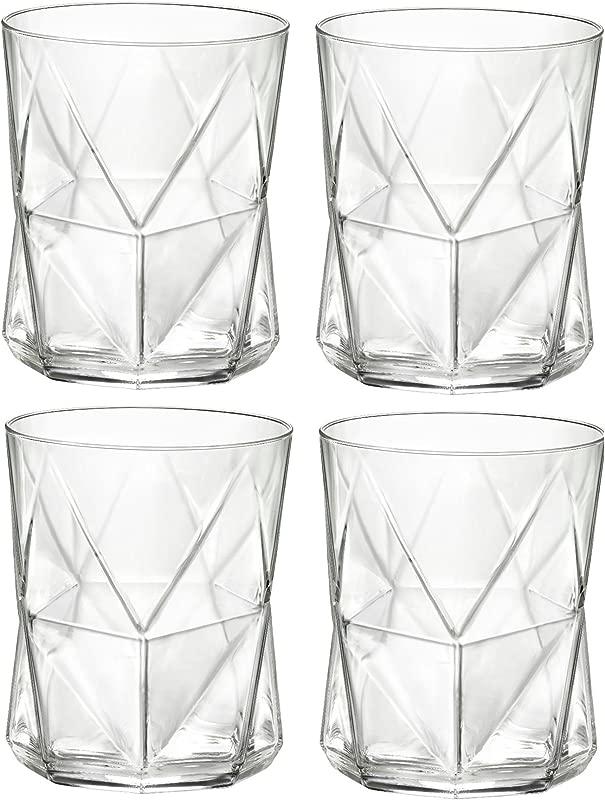 Bormioli Rocco Cassiopea Tumbler Glasses 410ml 13 75oz Set Of 4