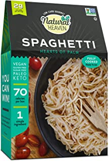 Sponsored Ad - Natural Heaven Spaghetti Hearts of Palm Noodles Substitute - Plant Based, 1 Count 9 oz