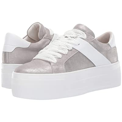 Kennel & Schmenger Top Platform Sneaker (Silver Metallic/Bianco Calf) Women