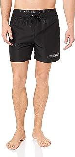 Calvin Klein Medium Double Waistband Swim Shorts, Medium, Black