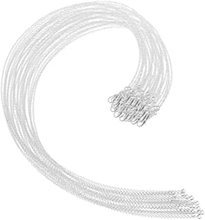 Selizo 30 Pack Jewelry Making Chains Necklace Chain Bulk Silver Plated Necklace Chains for Necklace Jewelry Making, 1.2 mm...