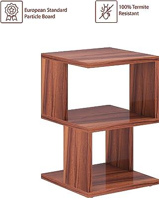 Klaxon Brydon Engineered Wood End Table/Side Table (Asian Walnut)