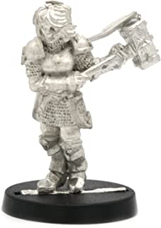 Stonehaven Human Paladin Female Miniature Figure (for 28mm Scale Table Top War Games) - Made in US