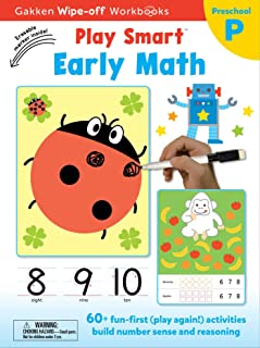 Play Smart Early Math Ages 2-4, Volume 21: At-Home Wipe-Off Workbook with Erasable Marker