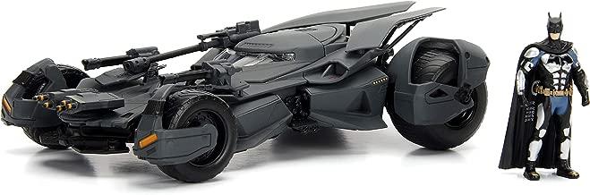 "Jada Toys DC Comics Justice League Batmobile Die-cast Car, 1:24 Scale Vehicle & 2.75"" Batman Collectible Figurine 100% Metal 99232"