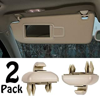 2-Pack Beige Interior Sun Visor Hook Clip Bracket for Audi A1 A3 A4 A5 Q3 Q5 Dark Beige 8E0 857 562