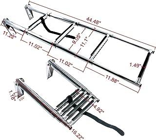 Amarine Made 4 Step Stainless Steel Telescoping Boat Ladder Swim Step