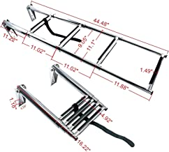 Amarine Made 4 Step Stainless Steel Telescoping Boat Ladder Swim Step