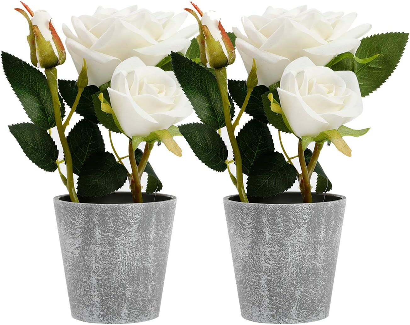 Azoco Artificial Flowers with Vase Flow Silk in Fake Pot SALENEW very Cheap bargain popular