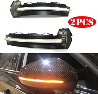 A Pair LED Dynamic Turn Signal Light Side Rear Mirror Indicator for AUDI A3 S3 RS3 8V (Transparent Shell)