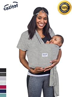 3330ef6a64d Heather Grey Baby Sling Carrier Wrap by Cozitot