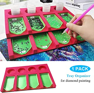 Diamond Painting Accessories Tray Organizer for Adults, Multi-Boat Holder for Tray Jar Containers, Diamond Painting Tools Kits Multi-Batch Ideal Gift for Craft Arts.