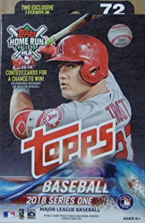 2018 Topps Baseball Factory Sealed Series One Hanger Box with 72 Cards per box including 2 RETAIL EXCLUSIVE Legends in the Making Cards and Possible Autos, Game Used Relic cards and more
