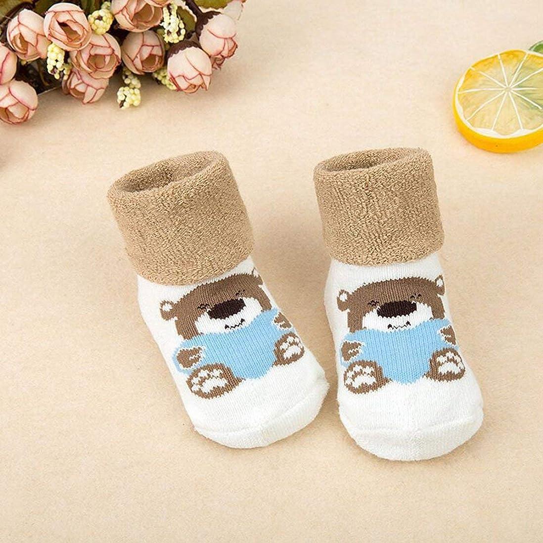 デンマーク語主観的時々時々新生児靴下漫画動物ストッキング厚い幼児靴下かわいい靴0-3歳の赤ちゃん女の子男の子