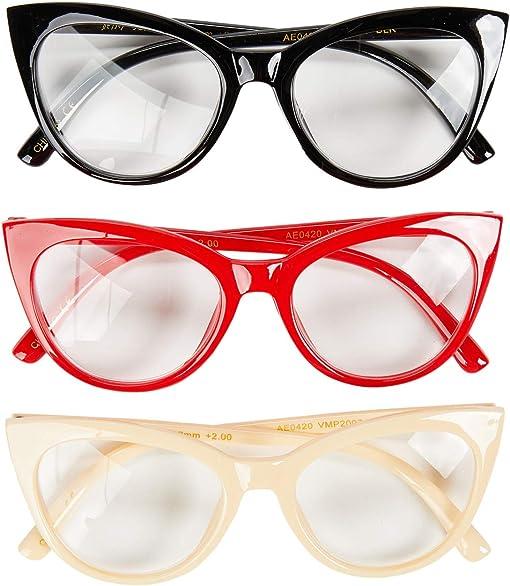 Black/Red/Ivory