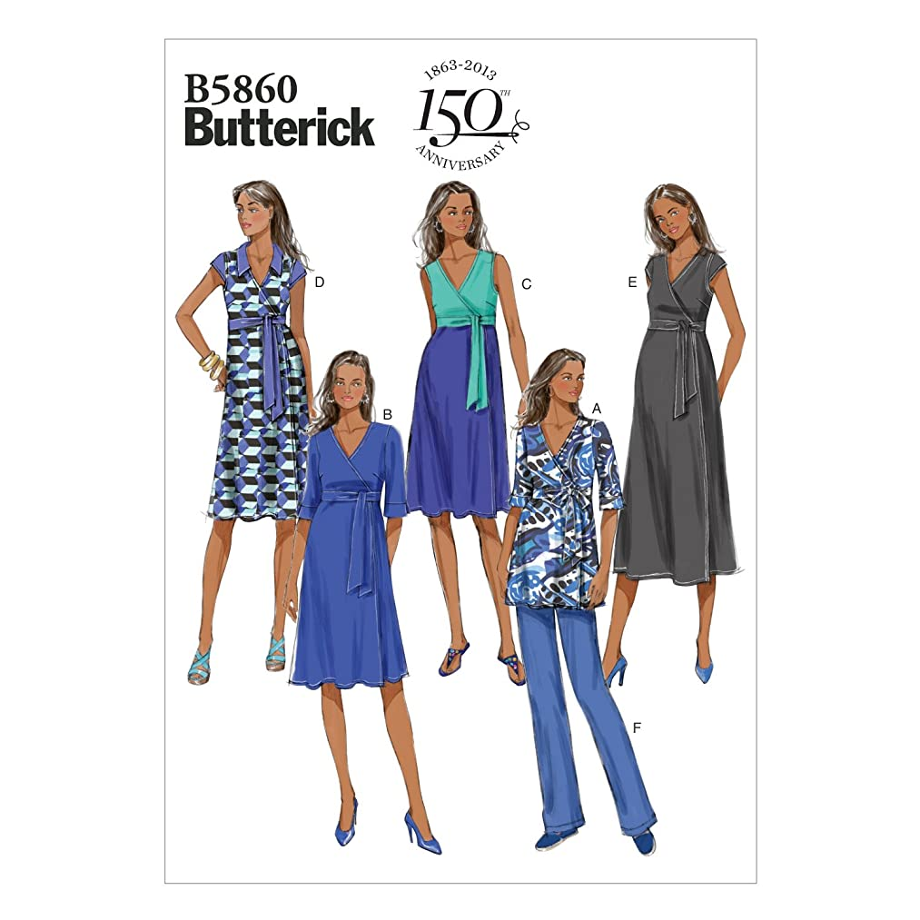 Butterick Patterns 5860 Misses Maternity Top, Dress and Pants with Variations Sizes 16-18-20-22-24
