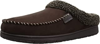 Dearfoams Mens 80241 Microsuede Moc Toe Clog with Berber Cuff Wide Width Brown Size: XX-Large