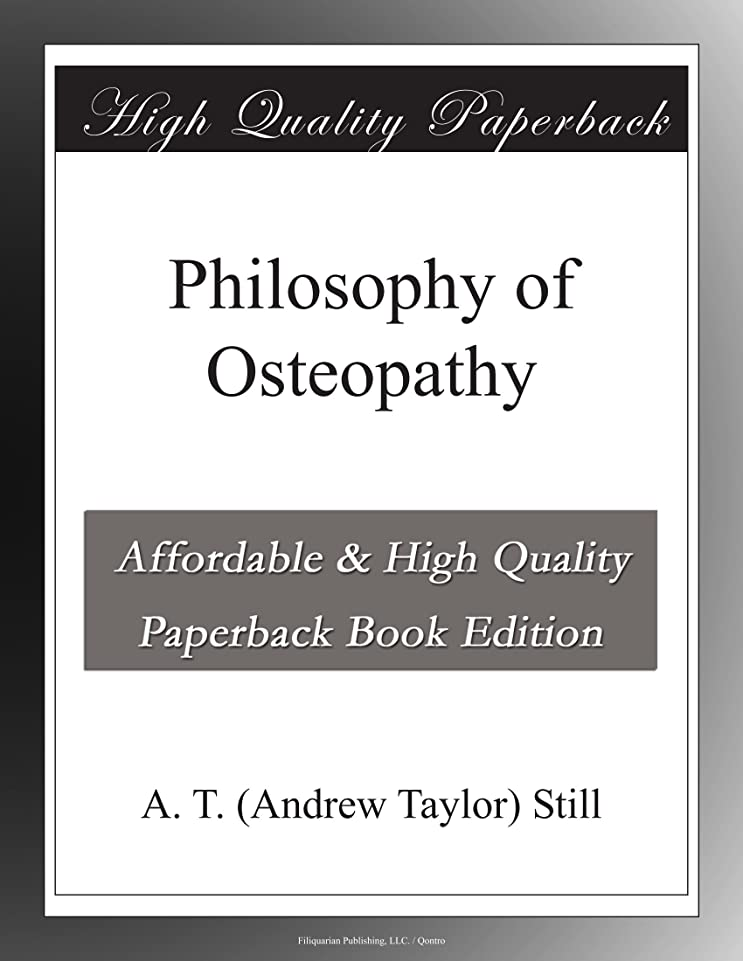 思想損失団結Philosophy of Osteopathy
