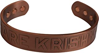 Hare Krishna Religious Magnetic Copper Bracelet for Arthritis & Pain Relief