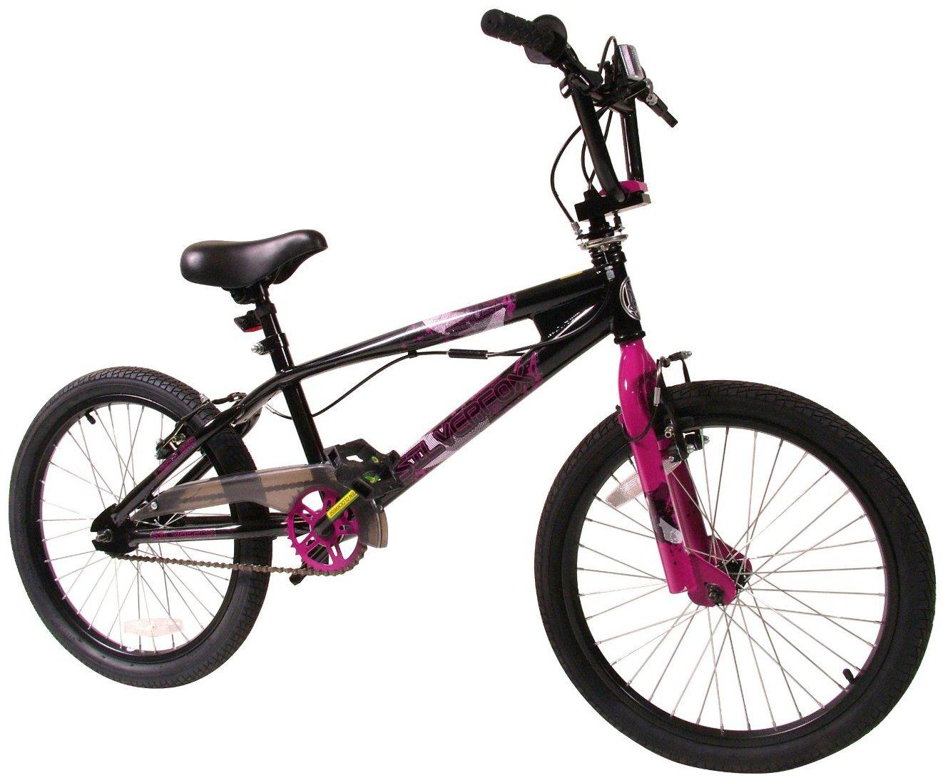 SilverFox - - Bicicleta BMX freestyle, color rosa / blanco: Amazon ...