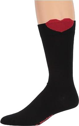 Black/Red Cotton Blend/Cotton/Poly